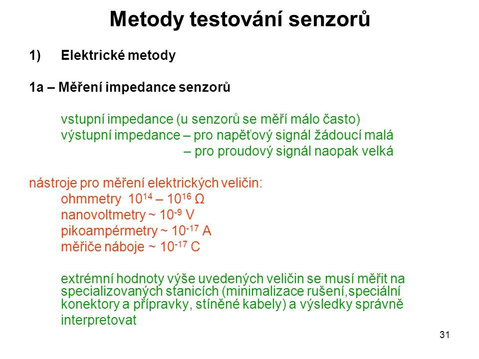 Metody testování senzorů