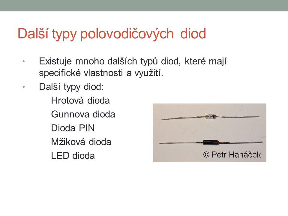 Další typy polovodičových diod
