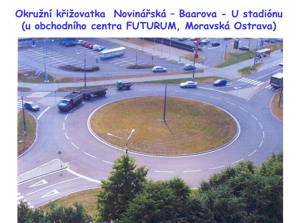 Okružní křižovatka Novinářská – Baarova - U stadiónu (u obchodního centra FUTURUM, Moravská Ostrava)