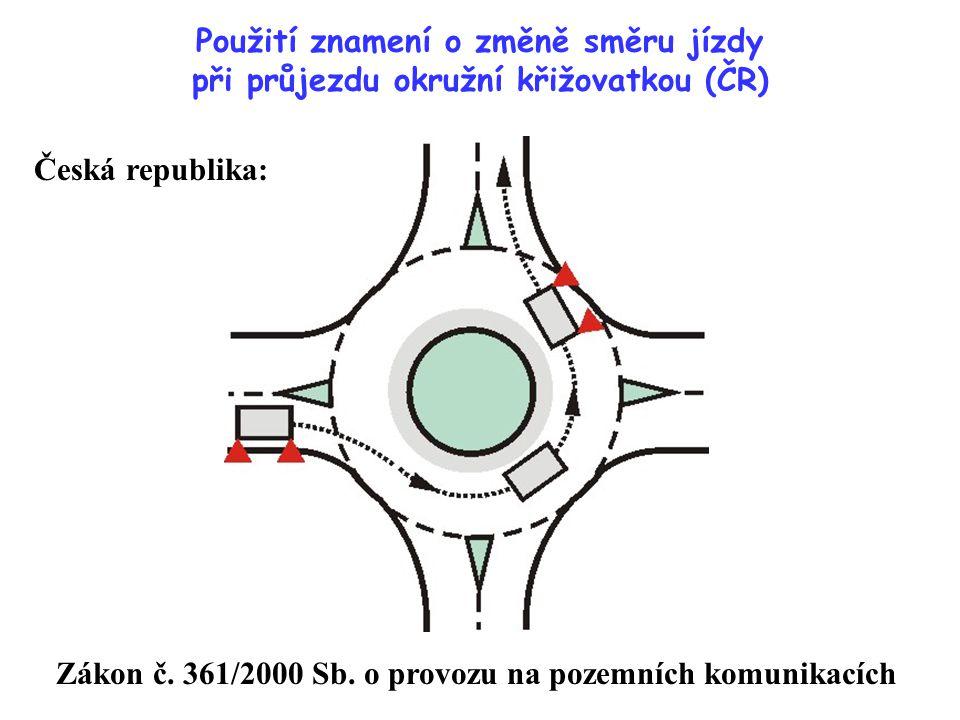 Zákon č. 361/2000 Sb. o provozu na pozemních komunikacích