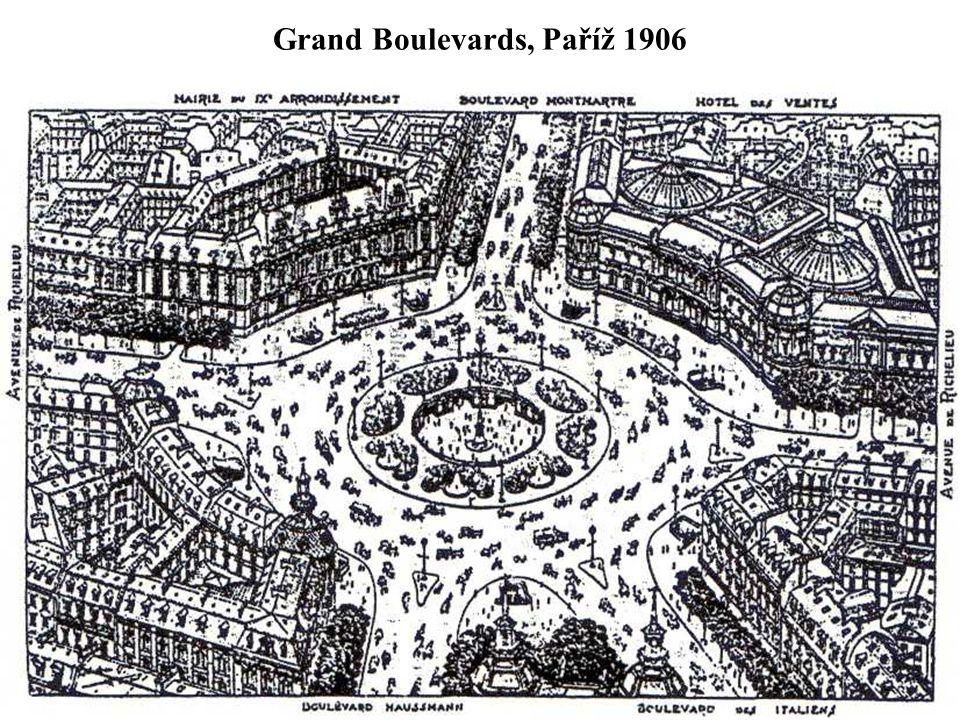Grand Boulevards, Paříž 1906