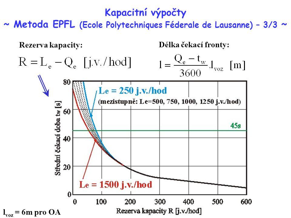 Kapacitní výpočty ~ Metoda EPFL (Ecole Polytechniques Féderale de Lausanne) – 3/3 ~