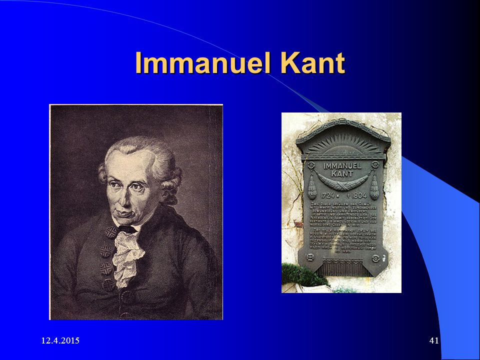 Immanuel Kant 11.4.2017