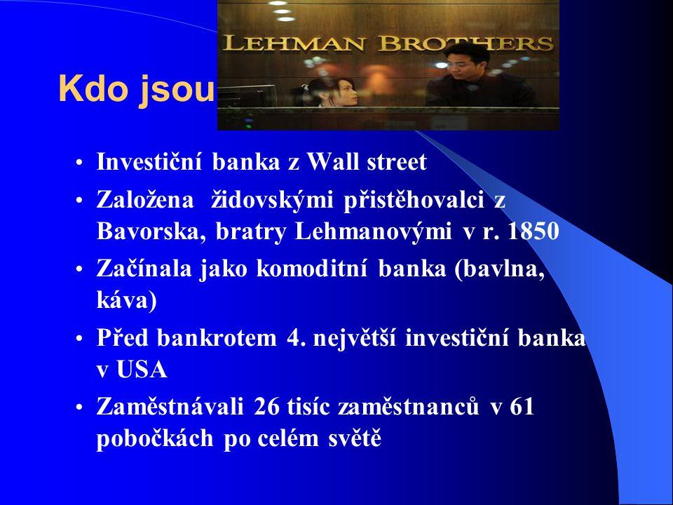 Kdo jsou Investiční banka z Wall street