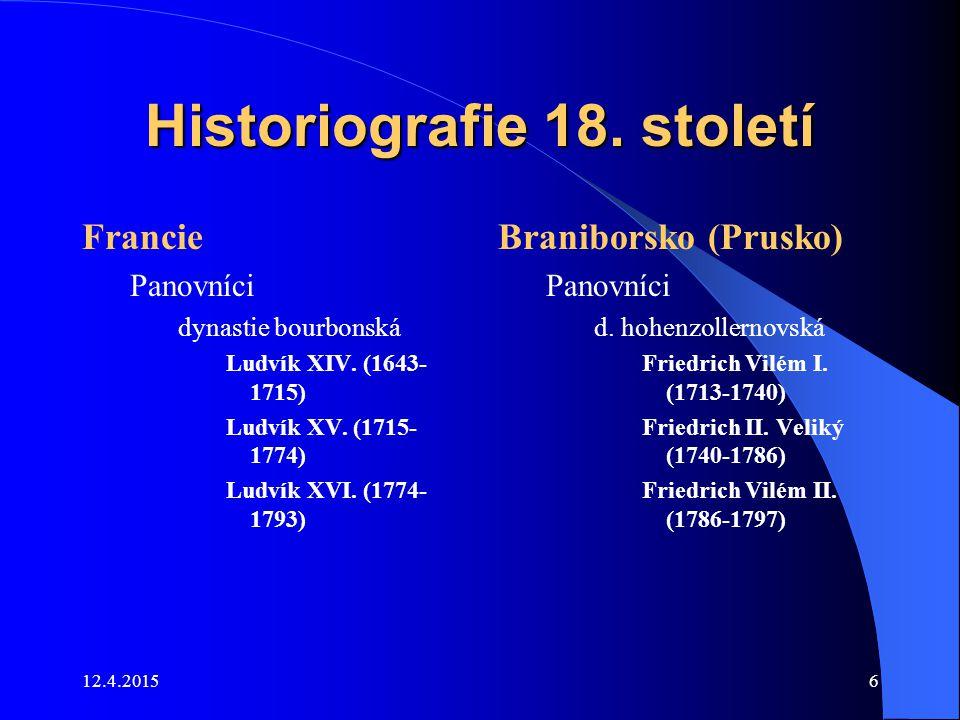 Historiografie 18. století