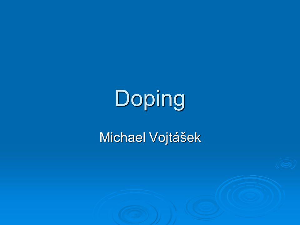 Doping Michael Vojtášek