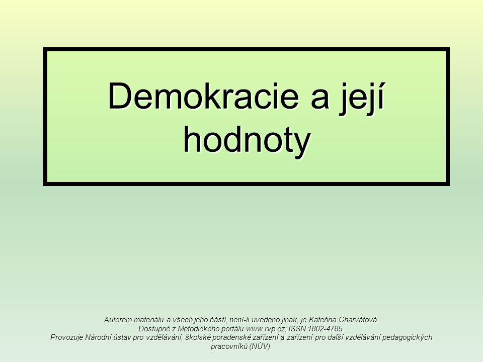 Demokracie a její hodnoty