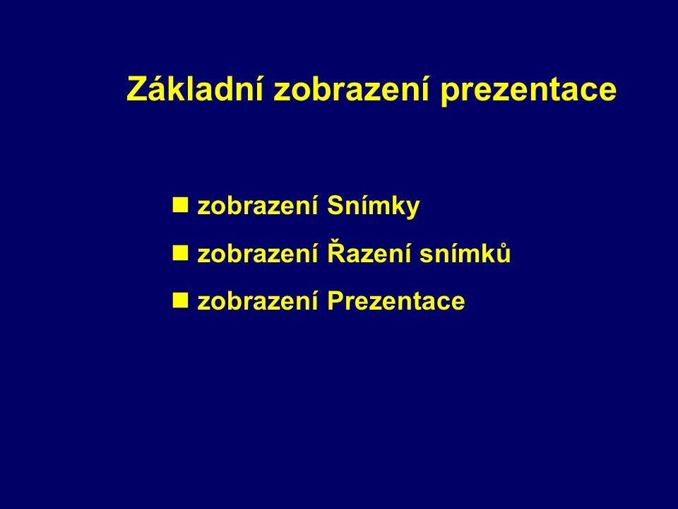 Základní zobrazení prezentace