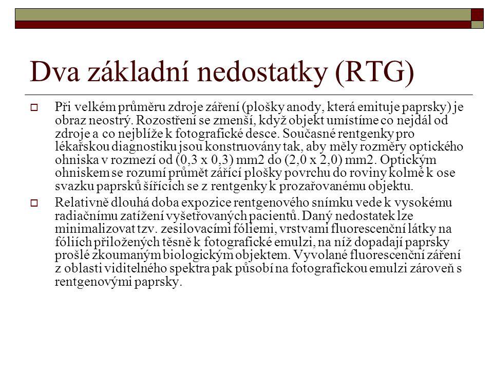 Dva základní nedostatky (RTG)