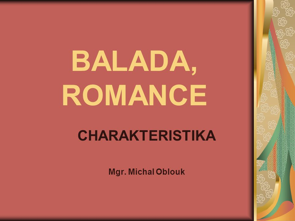 CHARAKTERISTIKA Mgr. Michal Oblouk