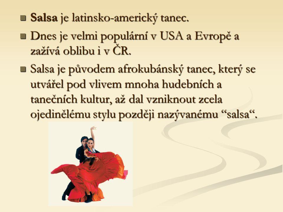 Salsa je latinsko-americký tanec.