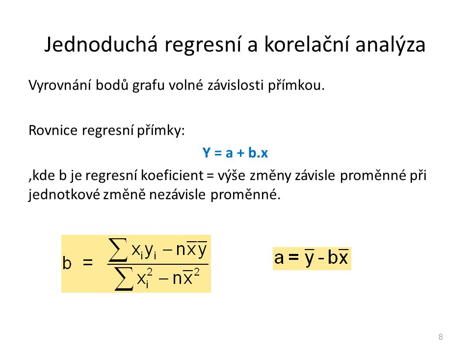 Jednoduchá regresní a korelační analýza