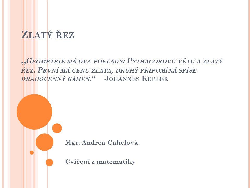 Mgr. Andrea Cahelová Cvičení z matematiky