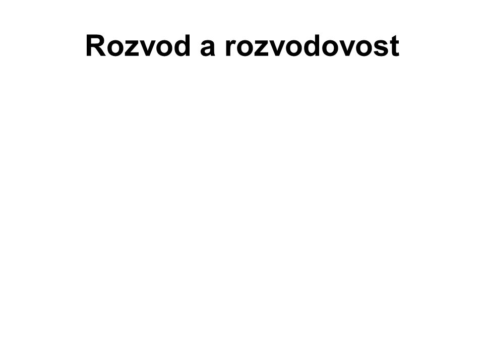 Rozvod a rozvodovost