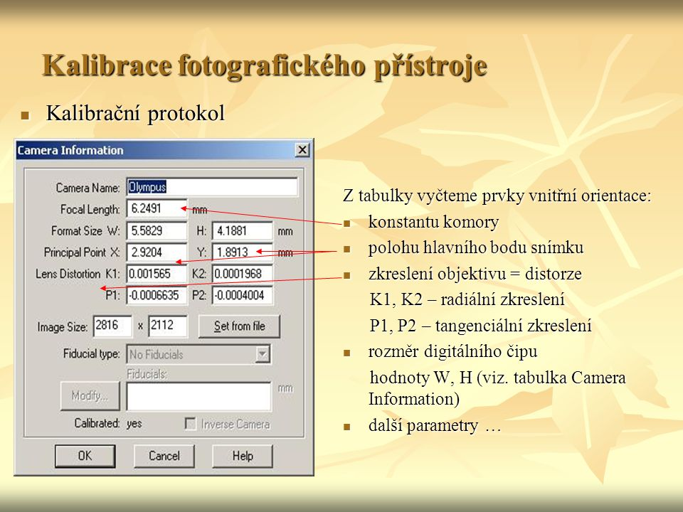 Kalibrace fotografického přístroje