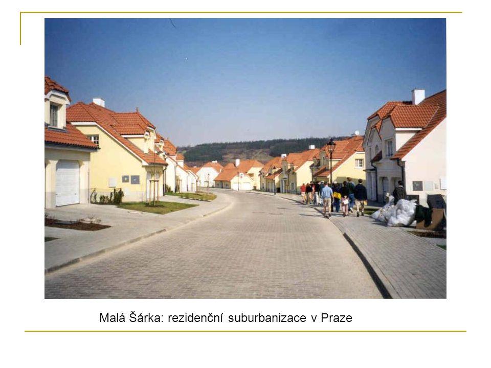 Malá Šárka: rezidenční suburbanizace v Praze