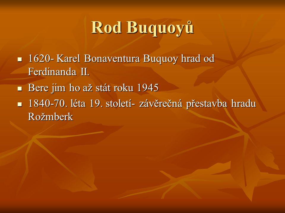 Rod Buquoyů 1620- Karel Bonaventura Buquoy hrad od Ferdinanda II.