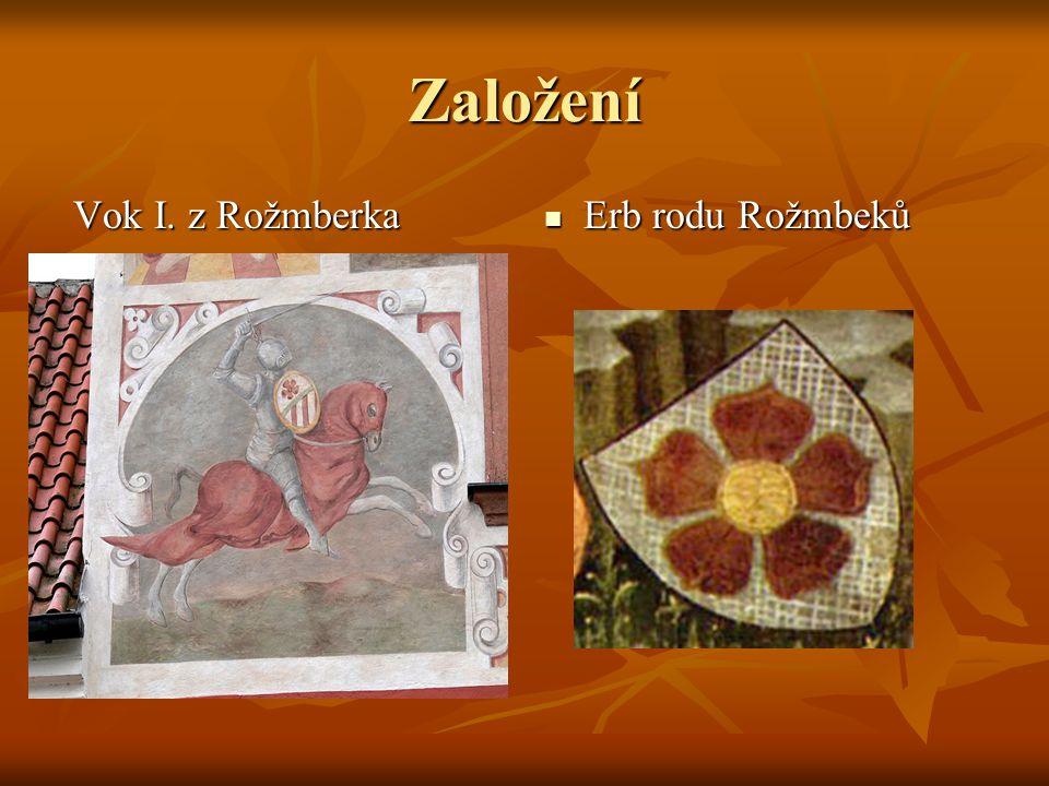 Založení Vok I. z Rožmberka Erb rodu Rožmbeků