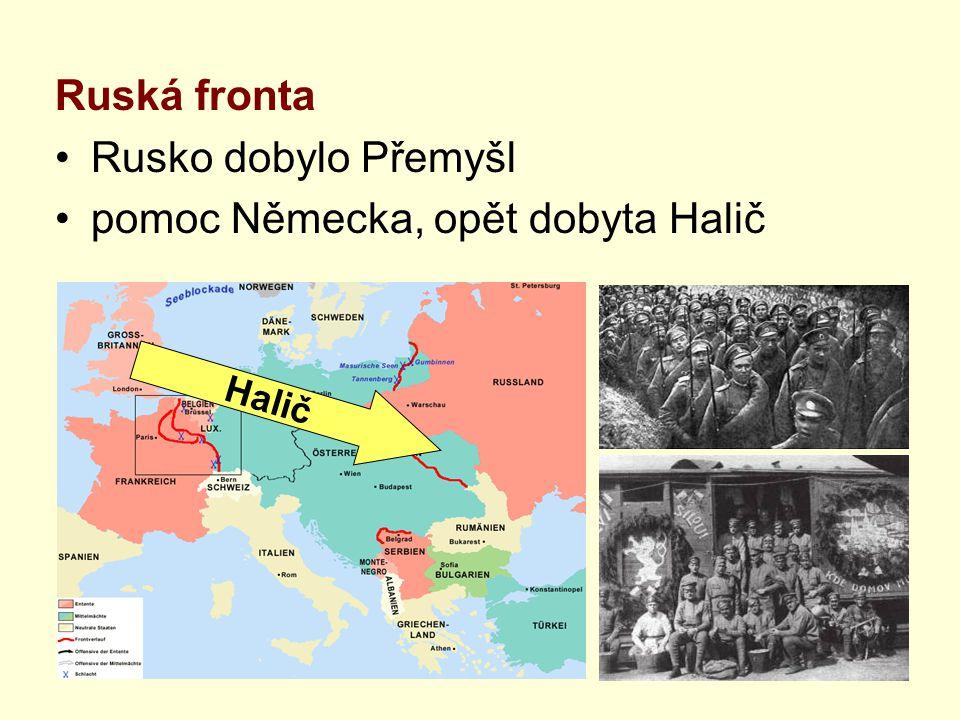 pomoc Německa, opět dobyta Halič