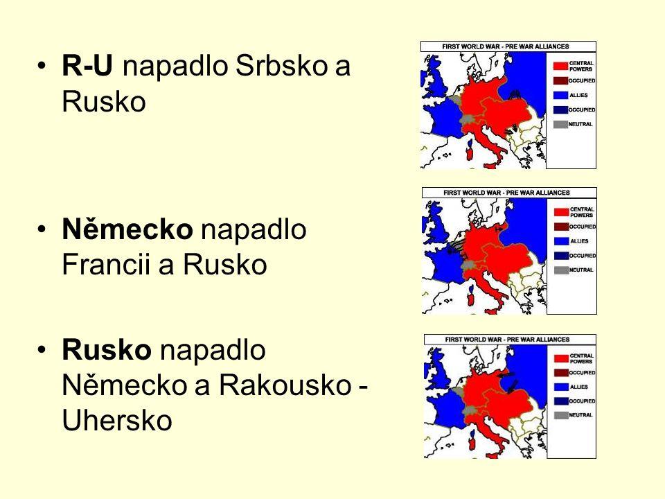 R-U napadlo Srbsko a Rusko