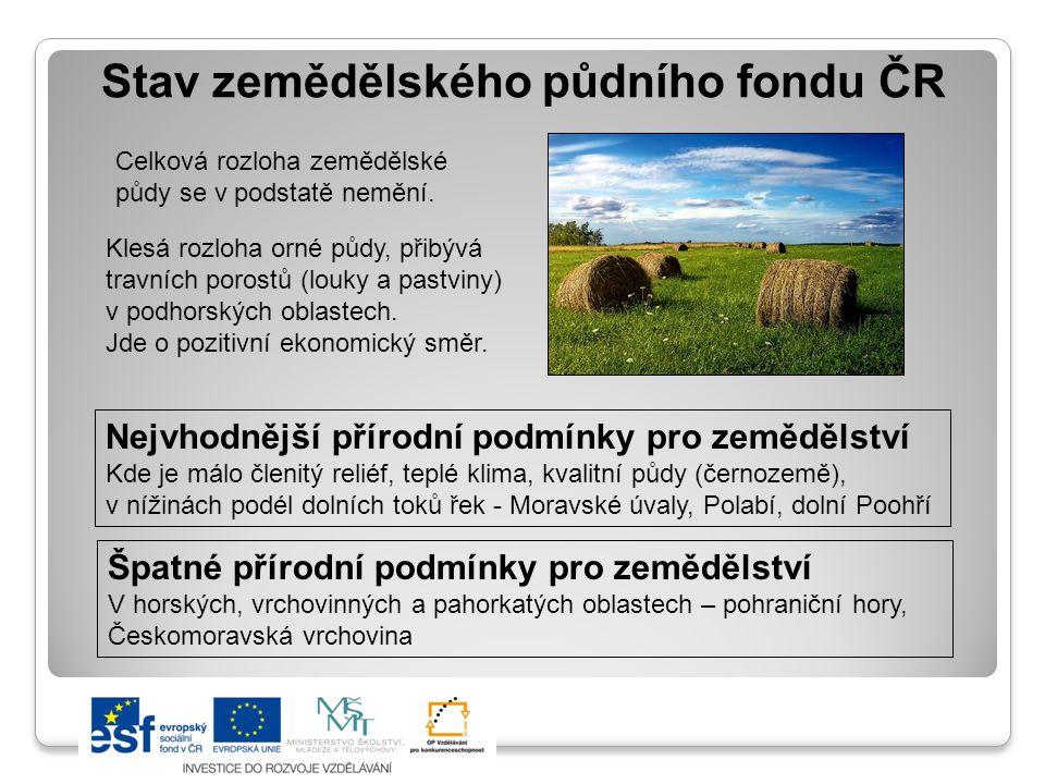 Stav zemědělského půdního fondu ČR