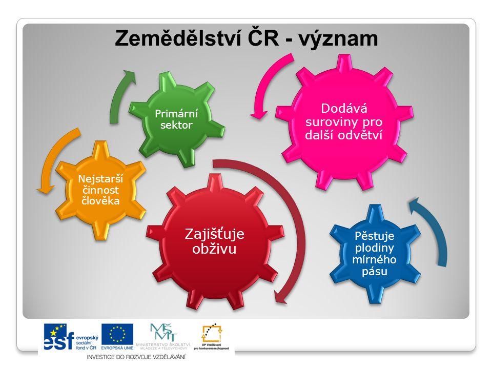 Zemědělství ČR - význam
