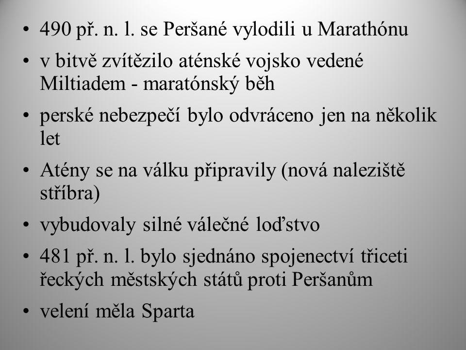490 př. n. l. se Peršané vylodili u Marathónu