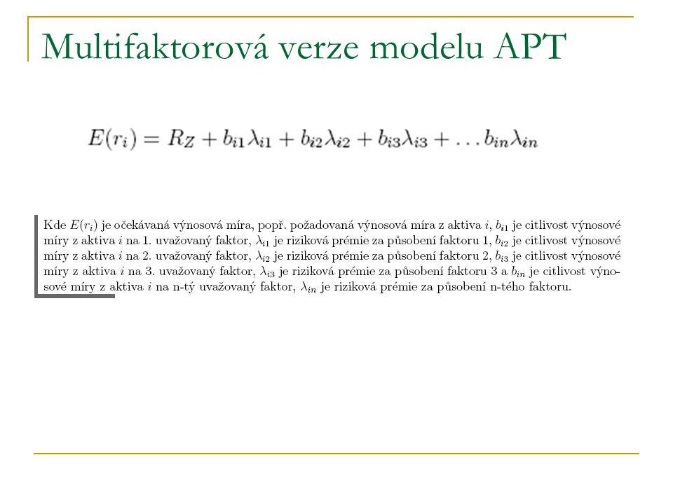 Multifaktorová verze modelu APT