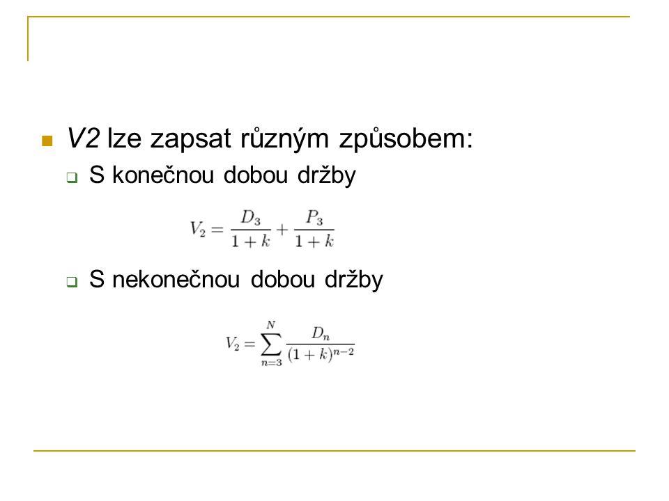 V2 lze zapsat různým způsobem: