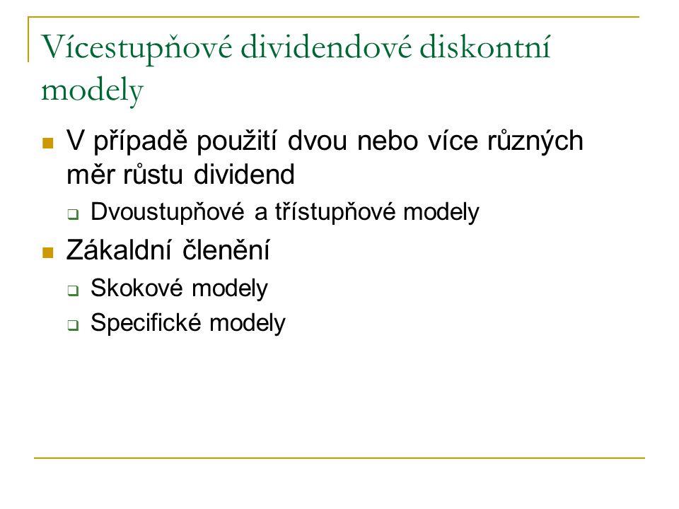 Vícestupňové dividendové diskontní modely