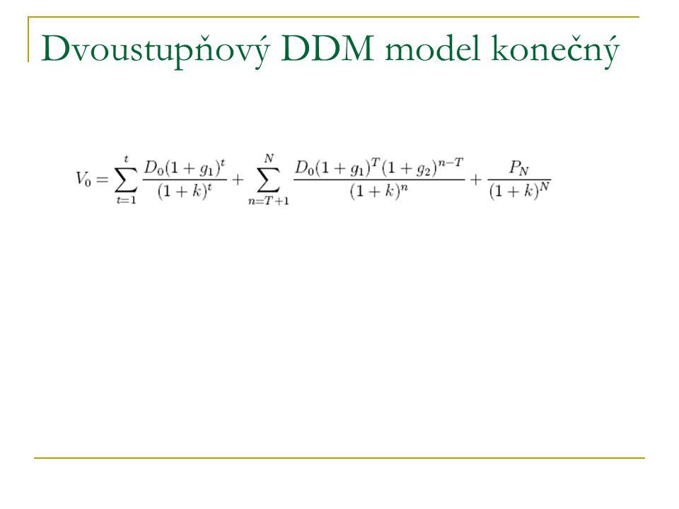 Dvoustupňový DDM model konečný
