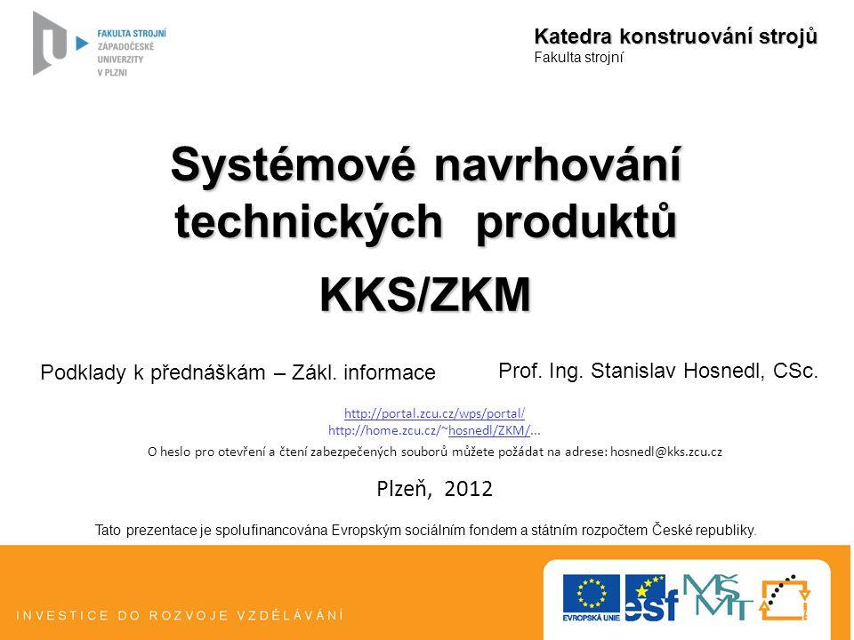 Systémové navrhování technických produktů