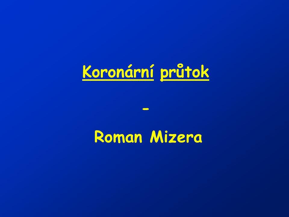 Koronární průtok - Roman Mizera