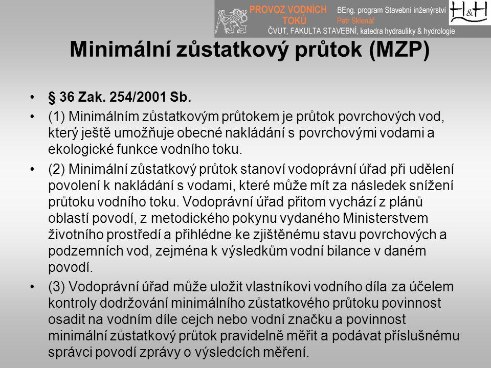 Minimální zůstatkový průtok (MZP)