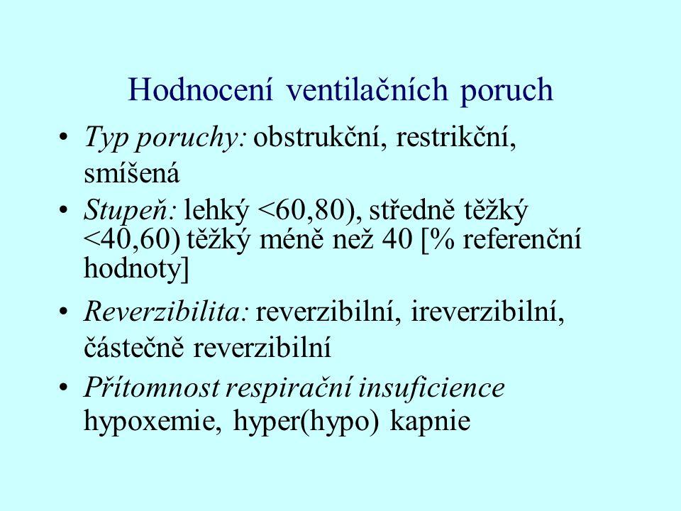 Hodnocení ventilačních poruch
