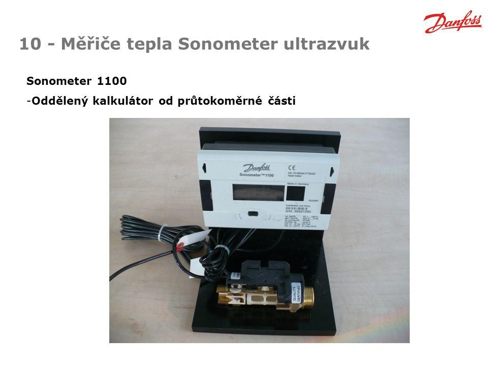 10 - Měřiče tepla Sonometer ultrazvuk