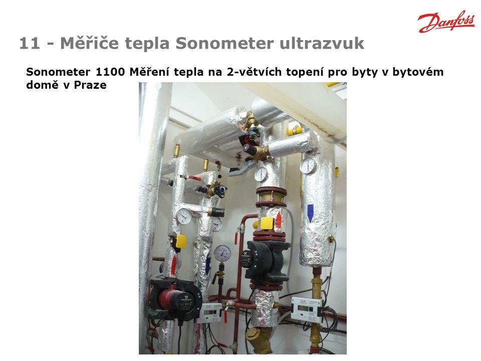 11 - Měřiče tepla Sonometer ultrazvuk