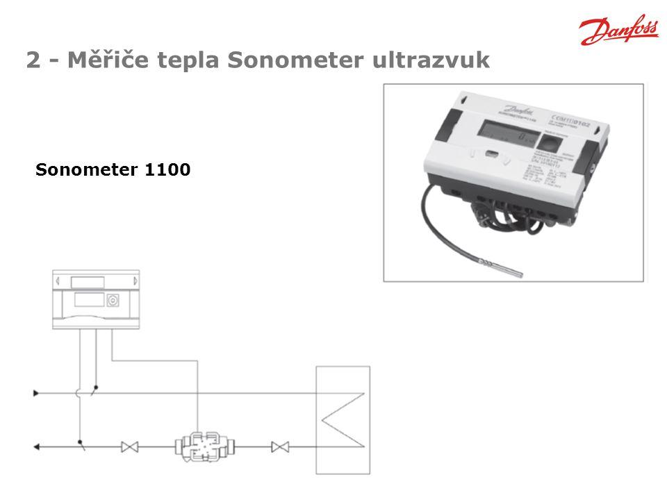 2 - Měřiče tepla Sonometer ultrazvuk