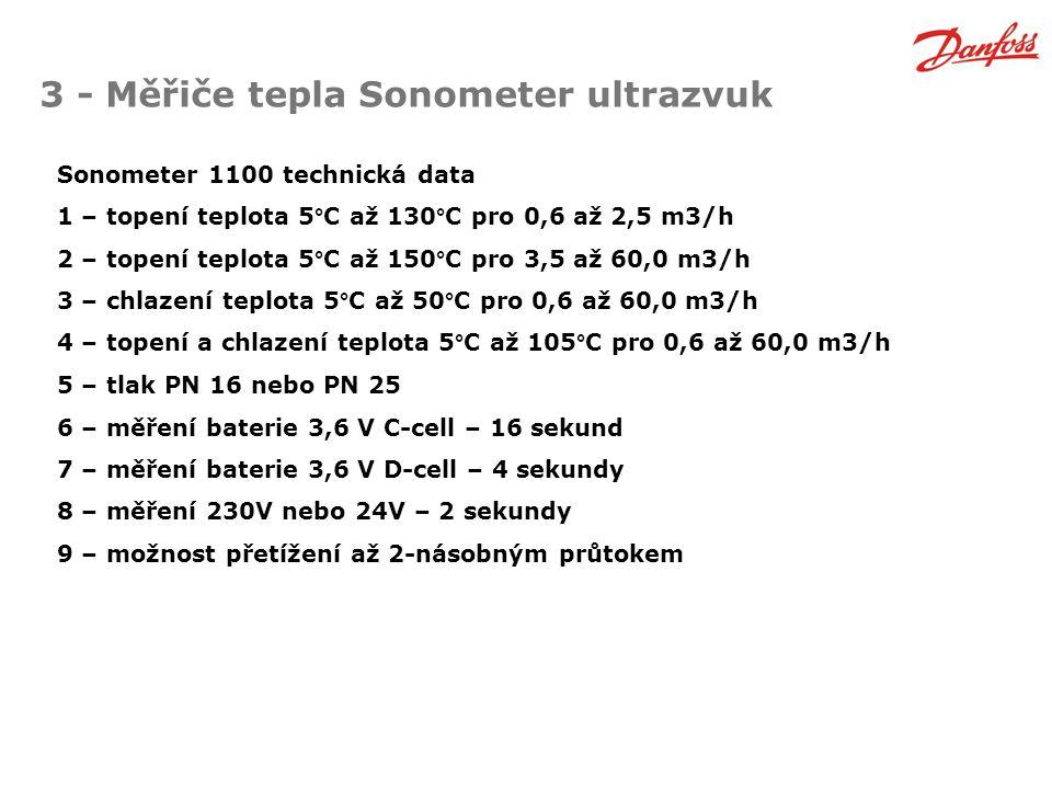 3 - Měřiče tepla Sonometer ultrazvuk