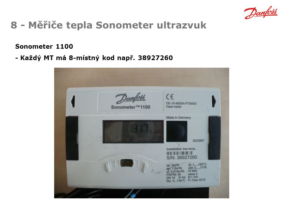8 - Měřiče tepla Sonometer ultrazvuk