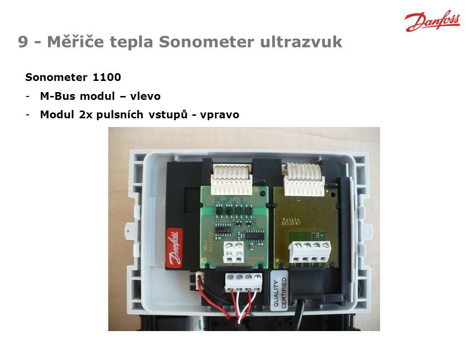 9 - Měřiče tepla Sonometer ultrazvuk