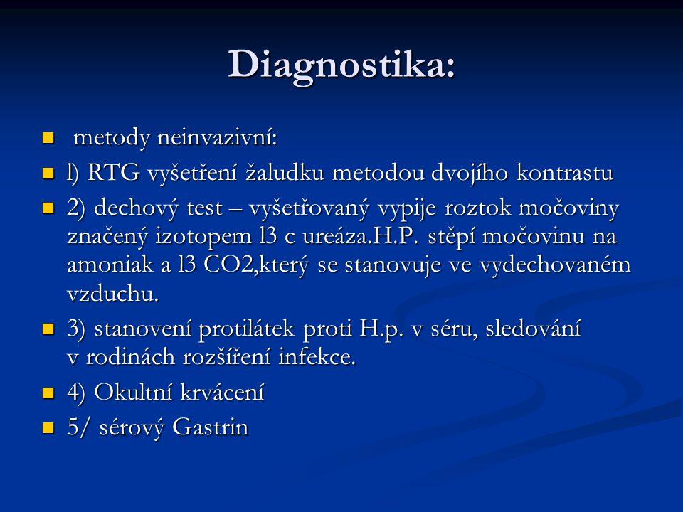 Diagnostika: metody neinvazivní:
