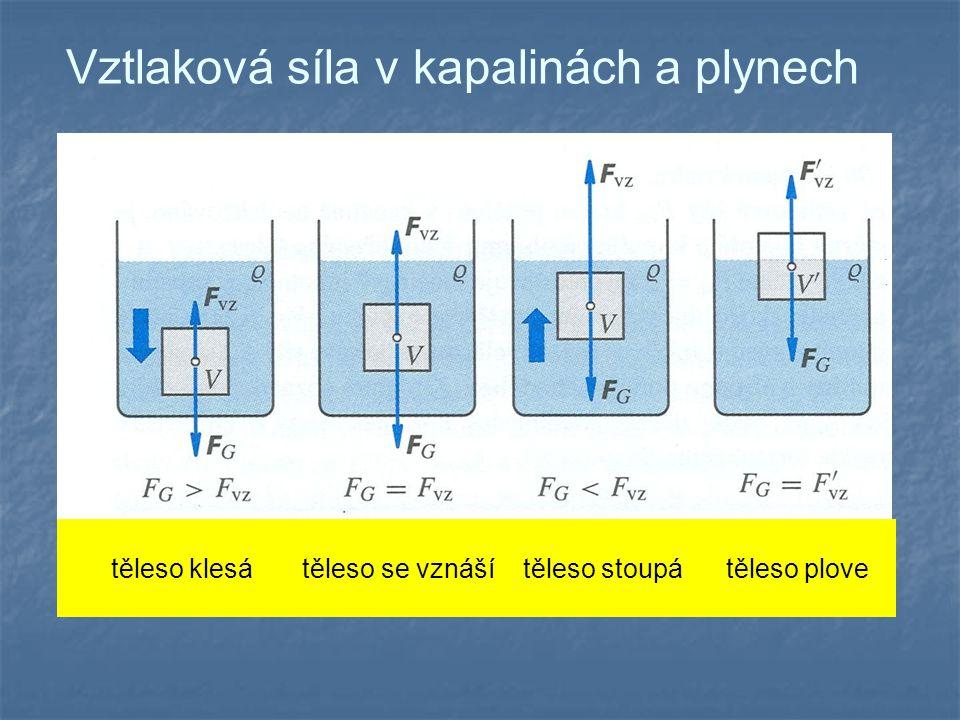 Vztlaková síla v kapalinách a plynech
