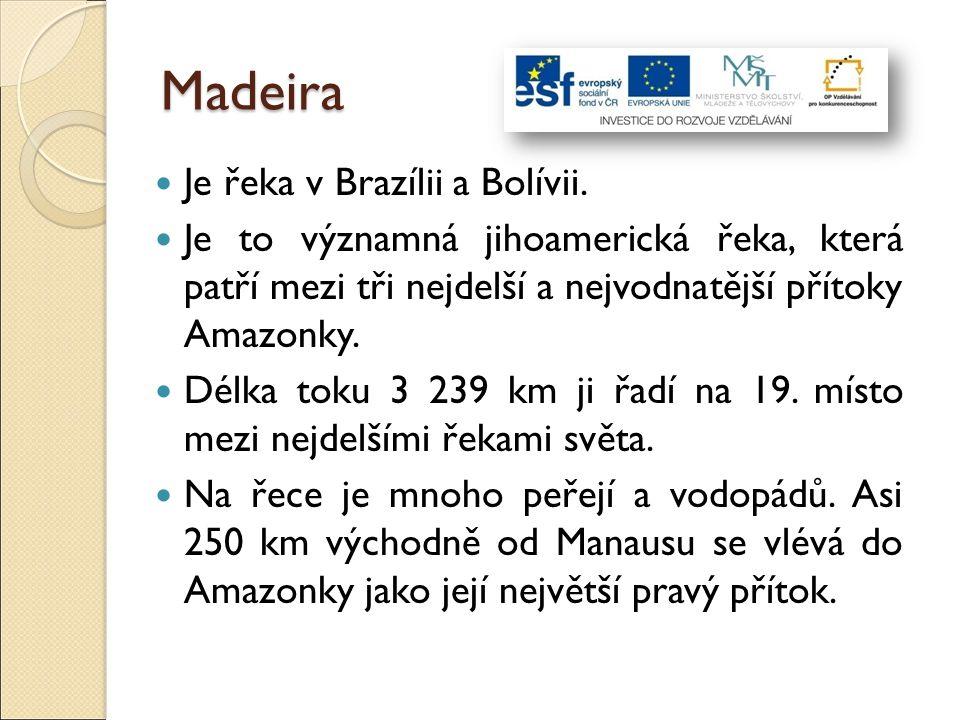 Madeira Je řeka v Brazílii a Bolívii.