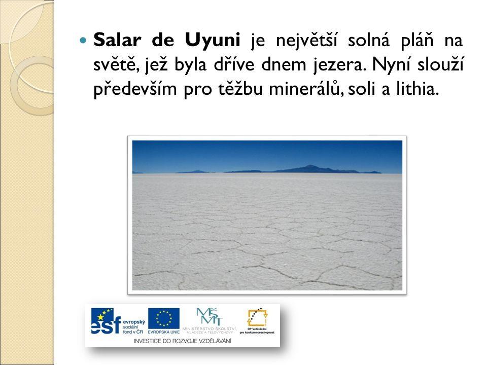 Salar de Uyuni je největší solná pláň na světě, jež byla dříve dnem jezera.