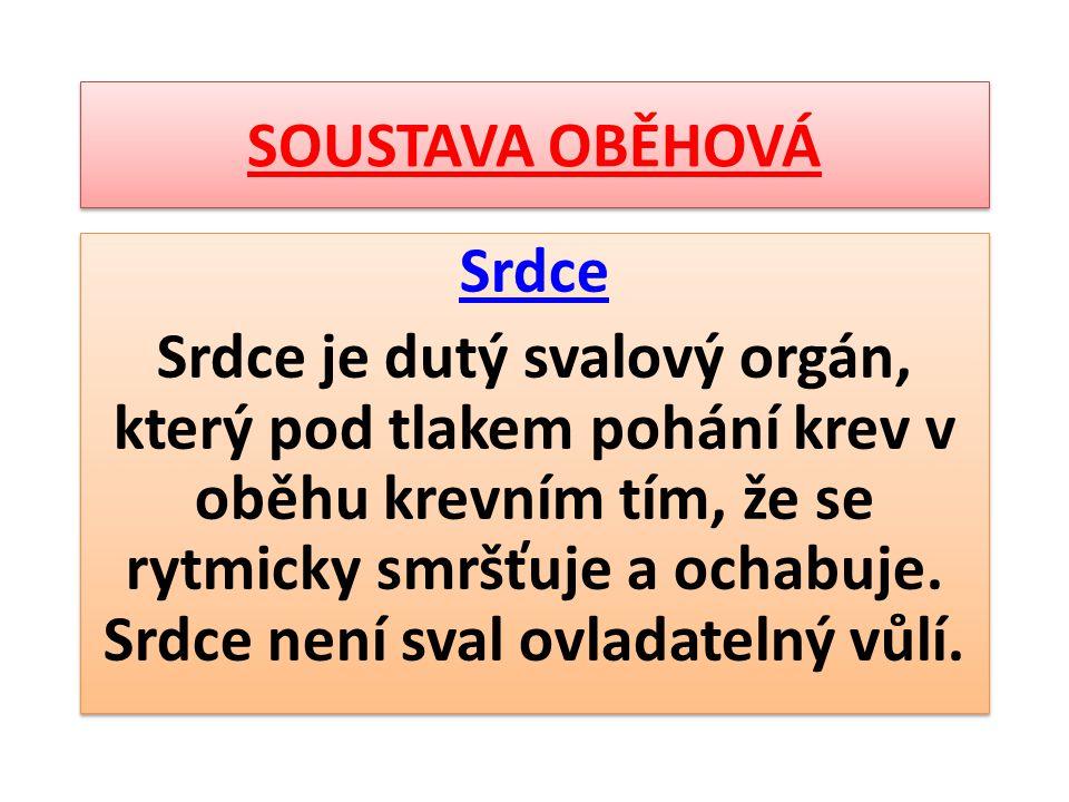 SOUSTAVA OBĚHOVÁ Srdce.