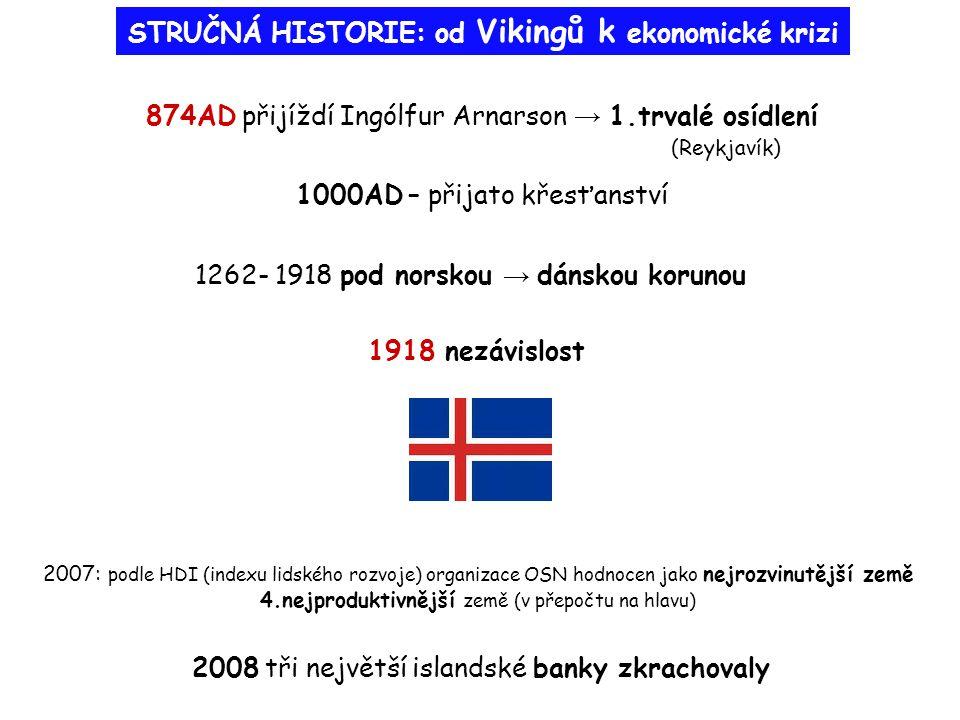 STRUČNÁ HISTORIE: od Vikingů k ekonomické krizi