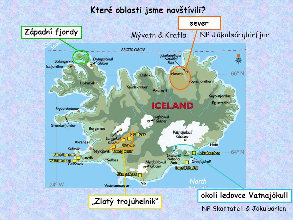 Které oblasti jsme navštívili okolí ledovce Vatnajökull