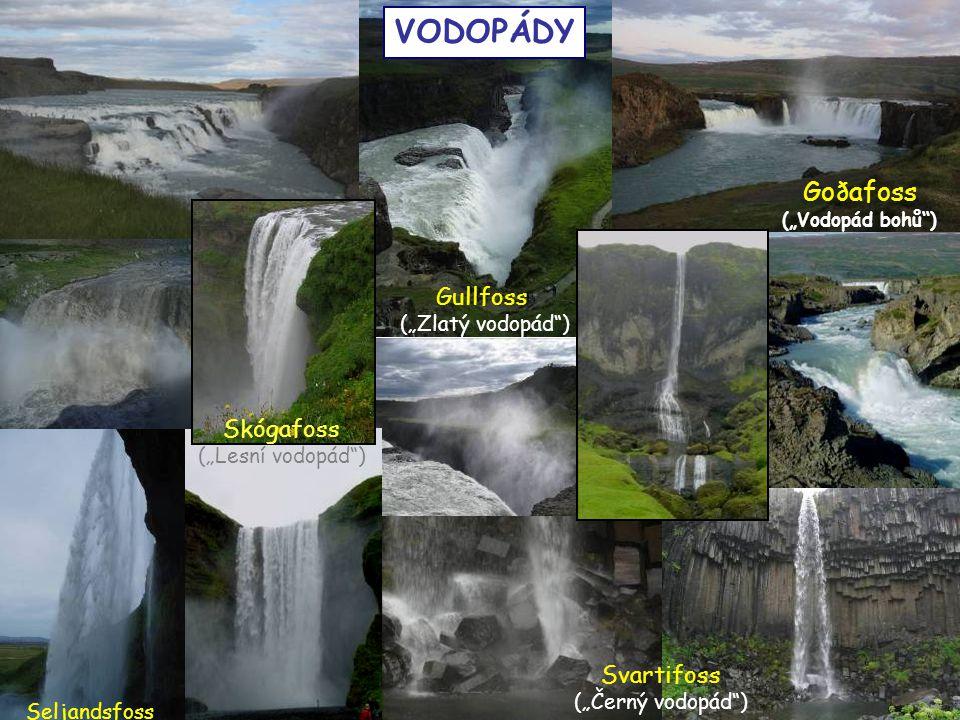 """VODOPÁDY Goðafoss Gullfoss Skógafoss Svartifoss (""""Zlatý vodopád )"""