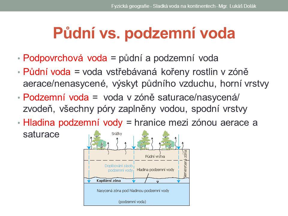 Fyzická geografie - Sladká voda na kontinentech - Mgr. Lukáš Dolák